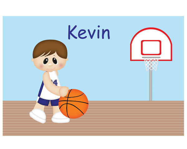 Basketball Boy Kids Plate