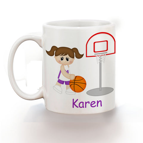 Basketball Girl Kids Mug