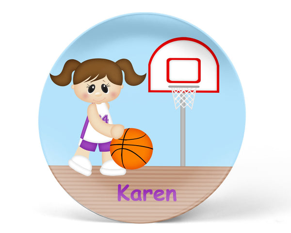 Basketball Girl Kids Placemat