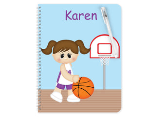 Basketball Girl Kids Notebook