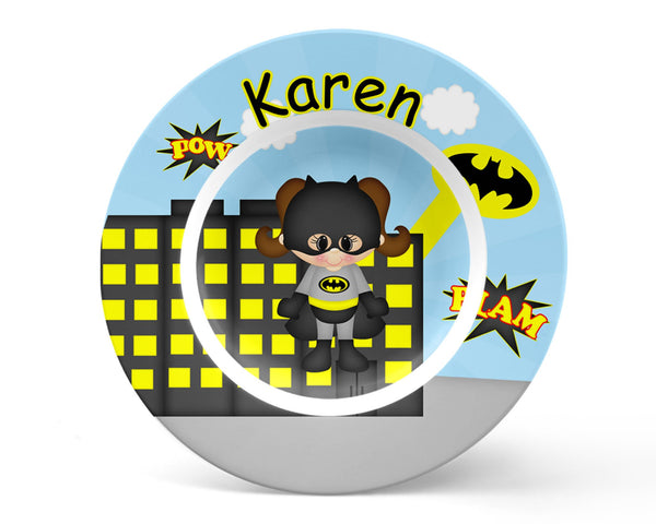 Batgirl Super Hero Kids Plate