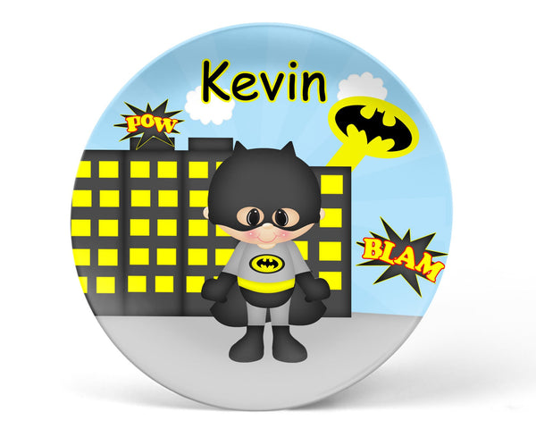 Batman Superhero Kids Plate