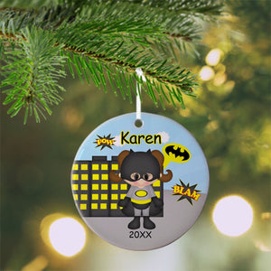 Batgirl Super Hero Christmas Ornament