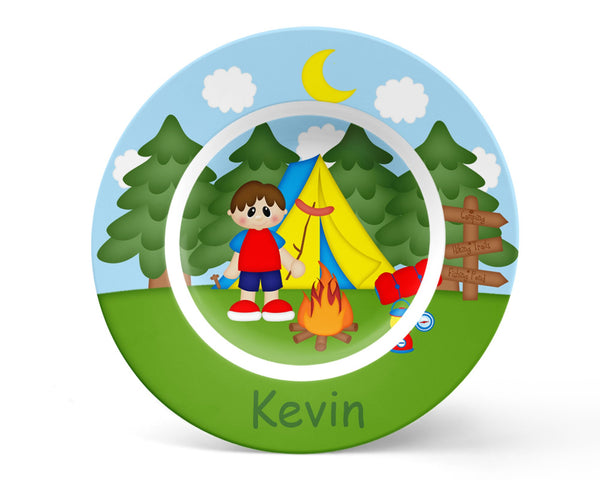 Camping Boy Kids Placemat