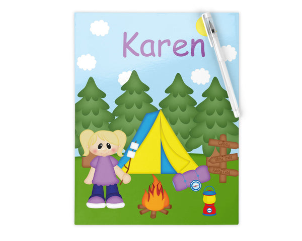 Camping Girl Kids Pencil Case