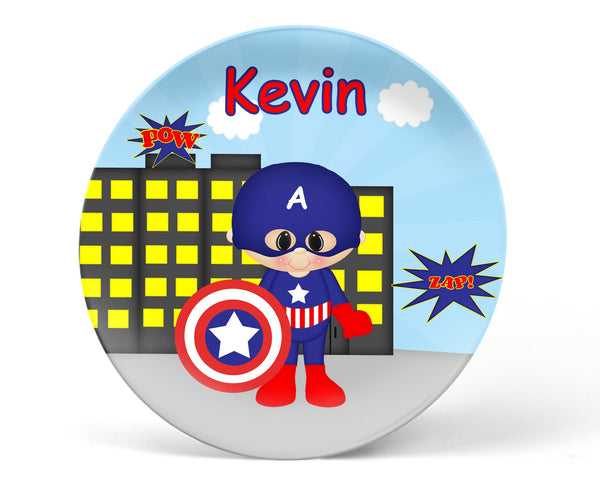 Captain America Superhero Kids Plate