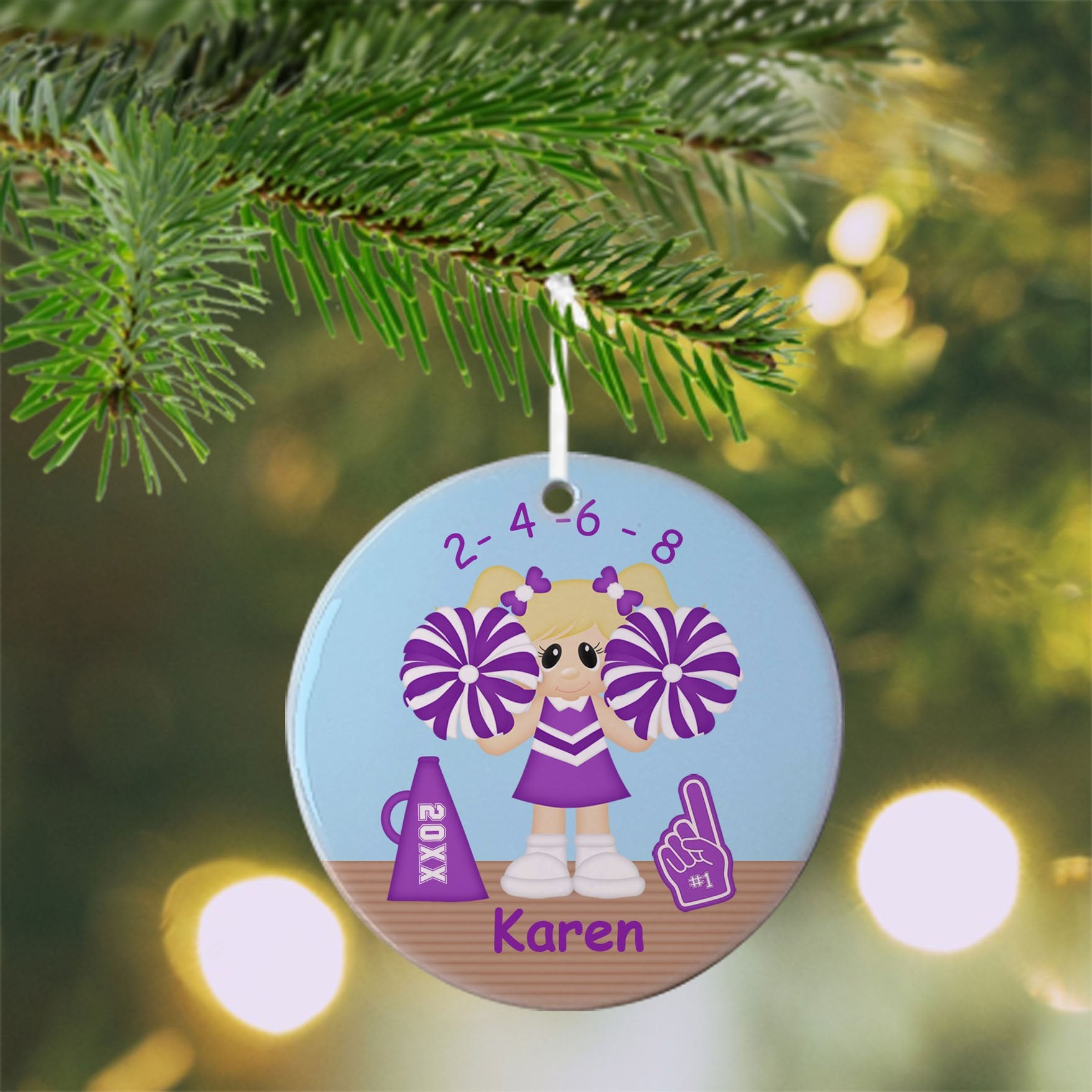 Cheerleader Christmas Ornament