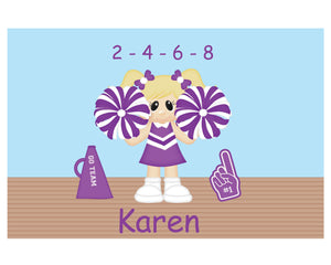Cheerleader Kids Placemat