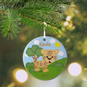 At the Zoo Cheetah Christmas Ornament