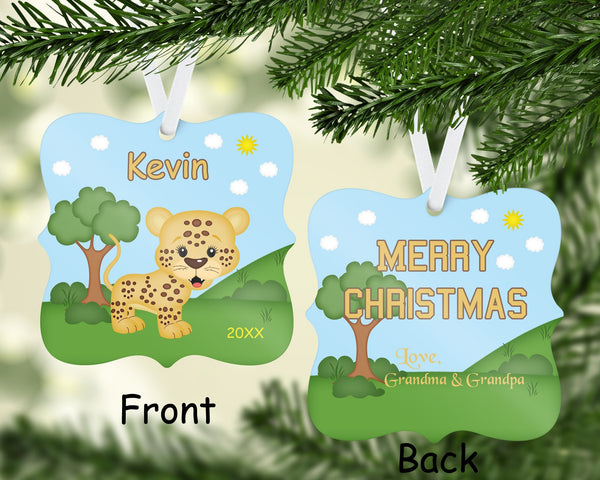 In the Jungle Cheetah Christmas Ornament
