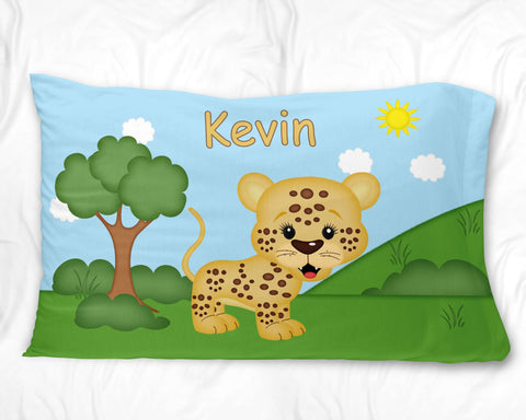 At the Zoo Cheetah Pillow Case
