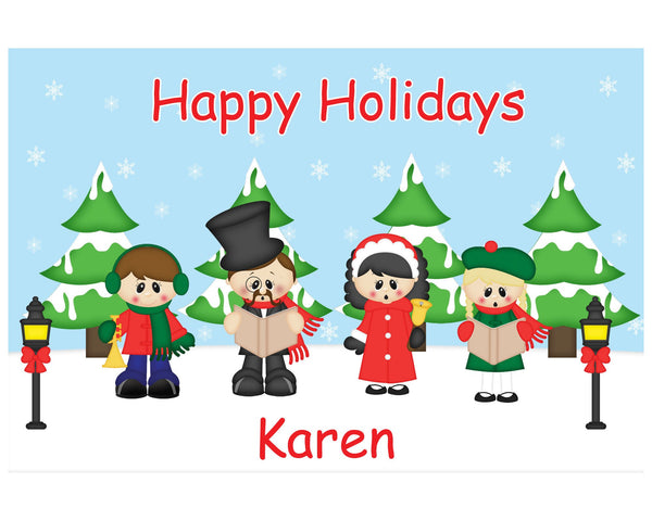 Christmas Carolers Kids Placemat