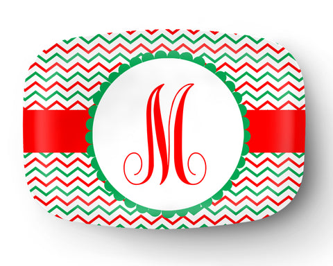 Christmas Personalized Monogram Platter