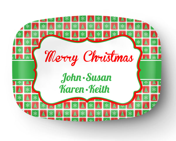 Christmas Personalized Platter