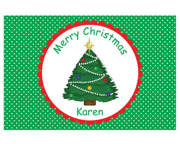 Christmas Tree Kids Placemat