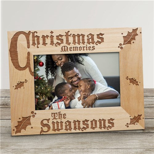 Christmas Memories Personalized Wood Picture Frame