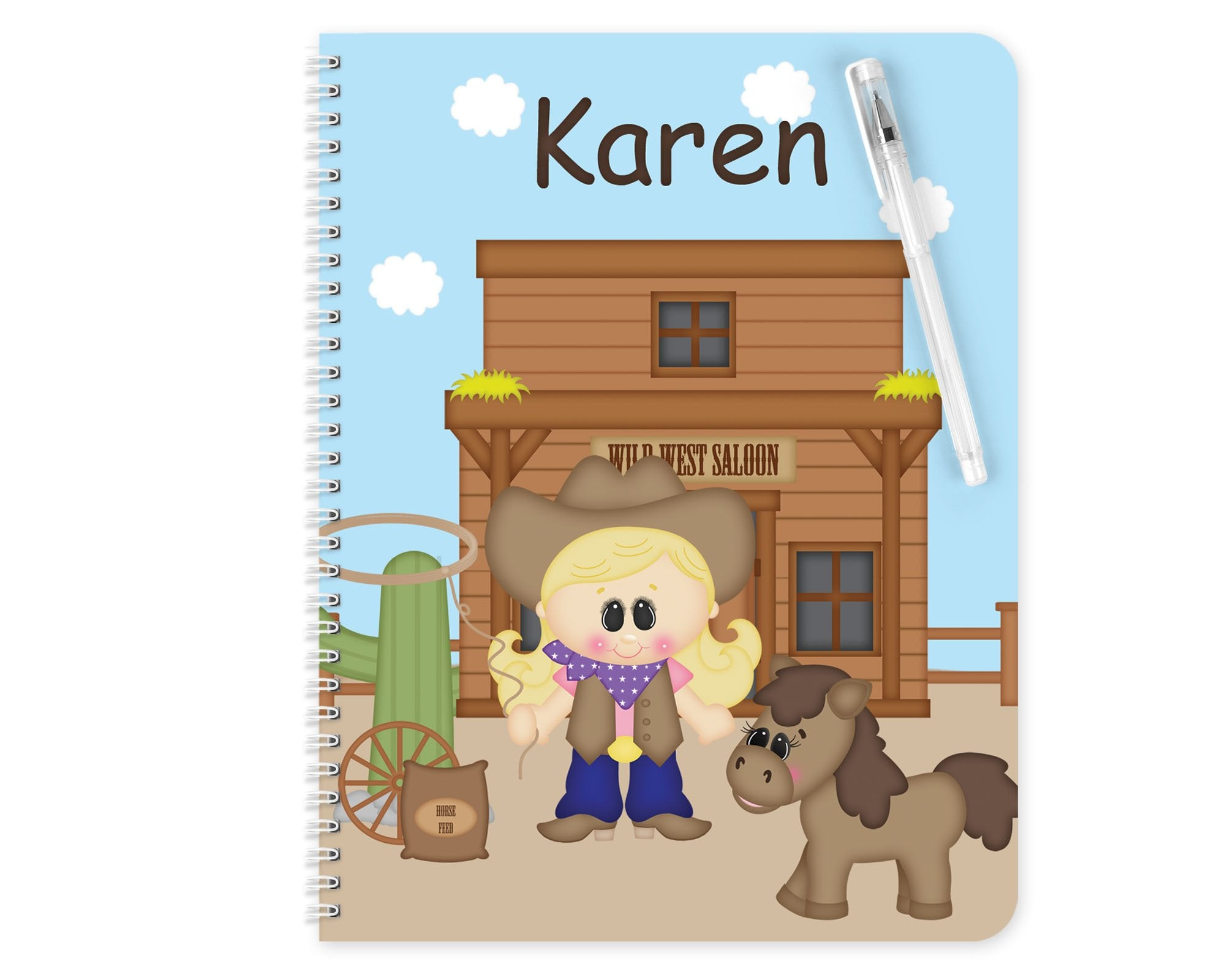 Cowgirl Kids Notebook