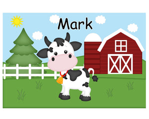 On the Farm Cow Kids Placemat