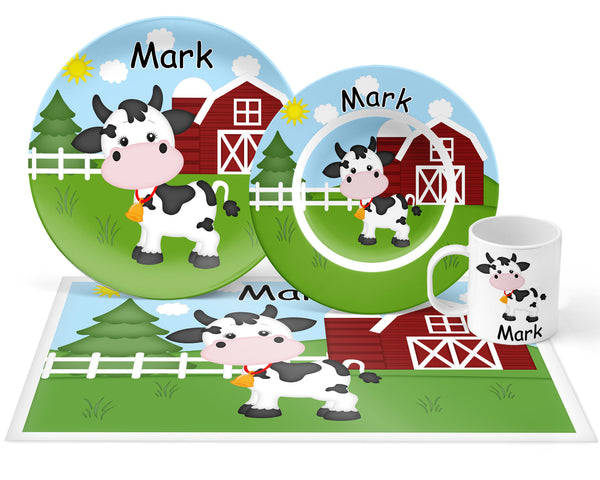 On the Farm Cow Kids Plate