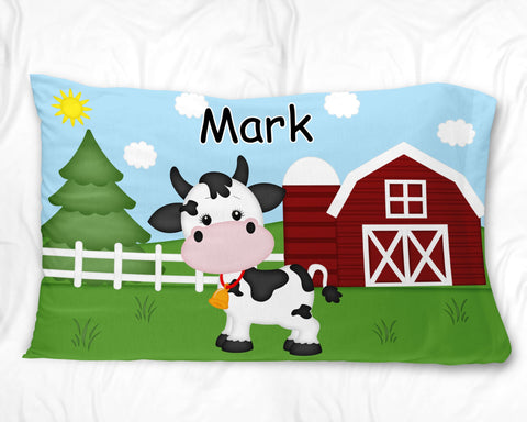 On the Farm Cow Pillow Case
