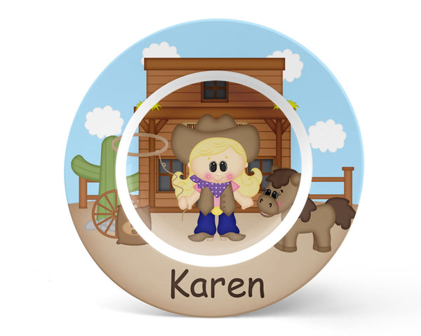 Cowgirl Kids Plate