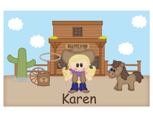 Cowgirl Kids Placemat