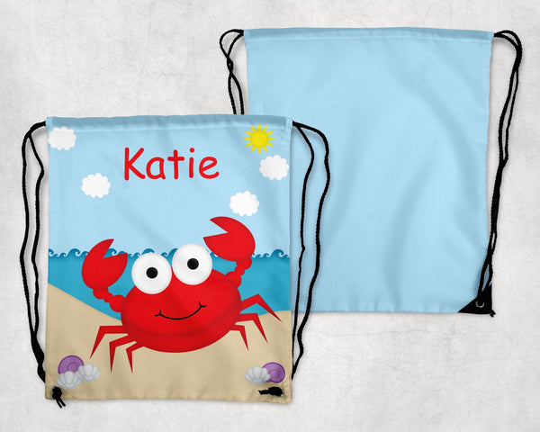 Cute Crab Drawstring Bag