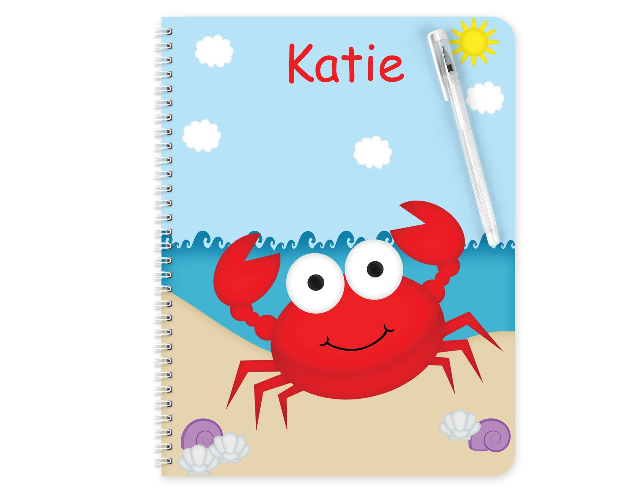 Cute Crab Kids Notebook
