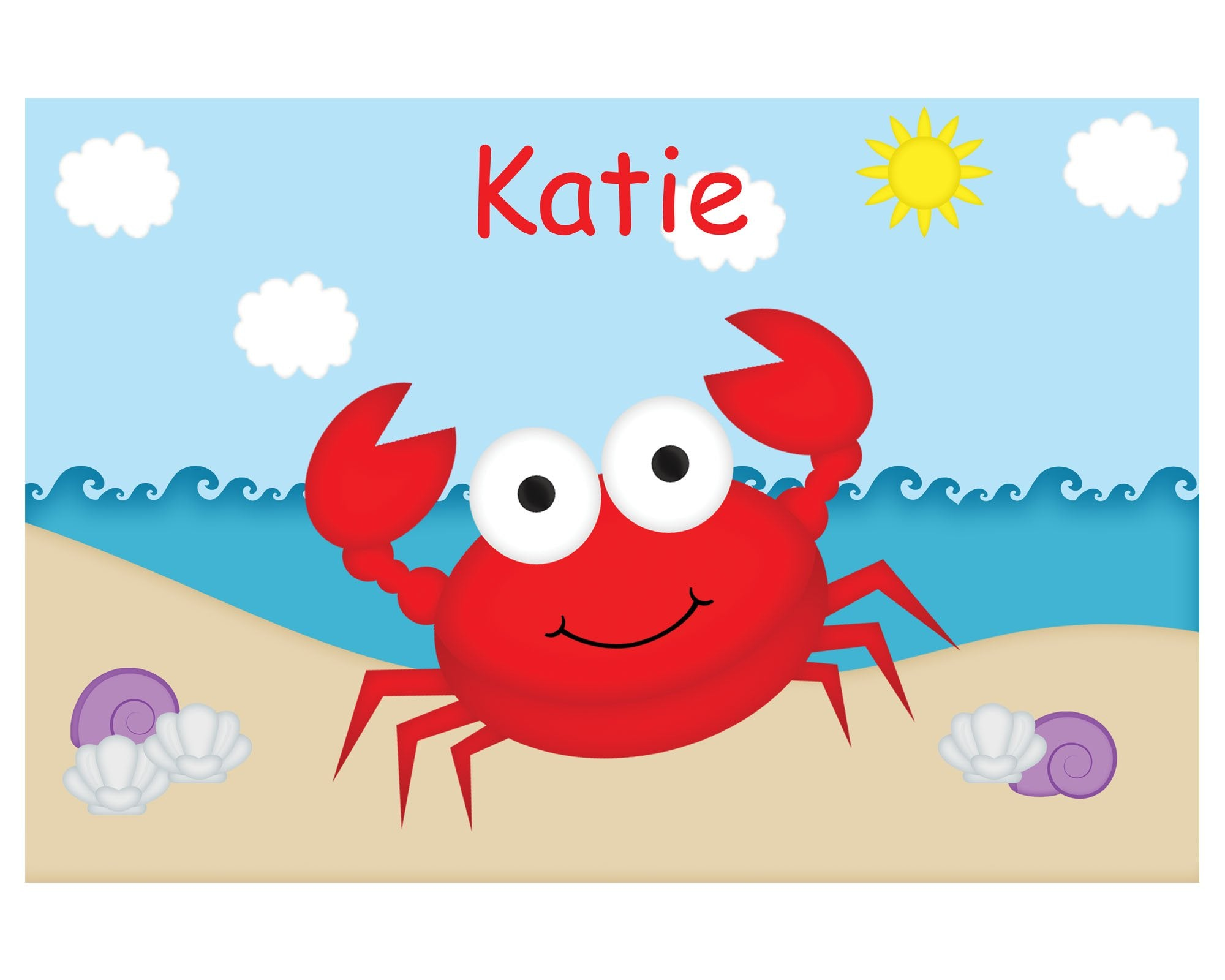 Cute Crab Kids Placemat