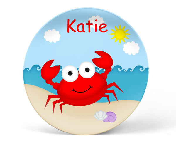 Cute Crab Kids Plate