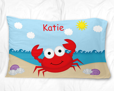 Cute Crab Pillow Case