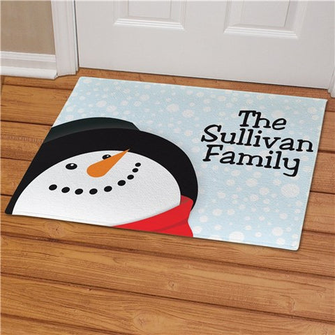 Snowman Personalized Doormat