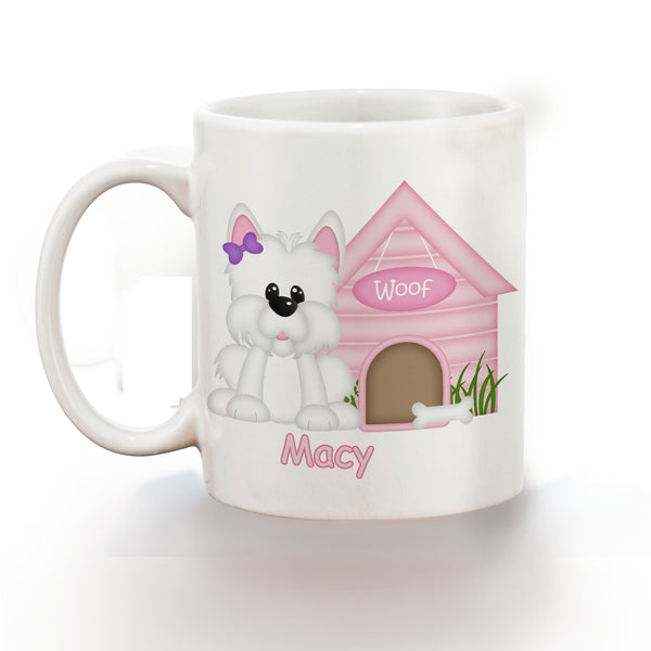 Dog House Pink Kids Bowl