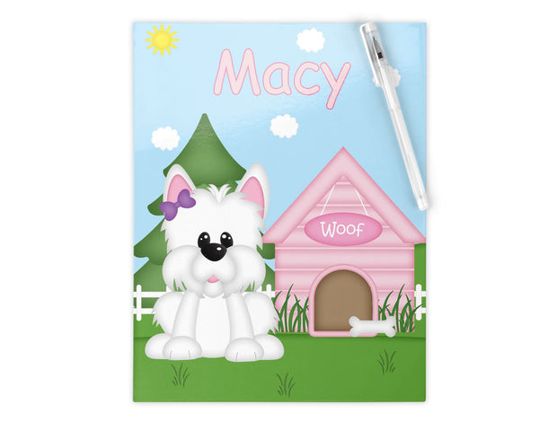 Dog House Pink Kids Notebook