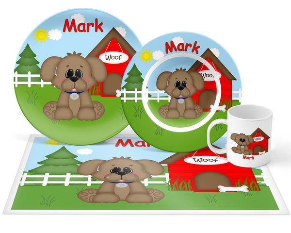 Dog House Red Kids Plate
