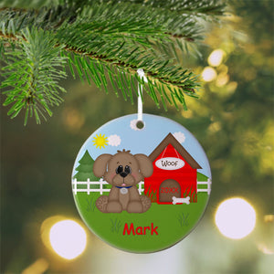 Dog House Red Christmas Ornament