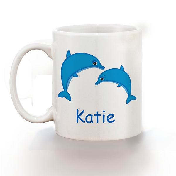 Diving Dolphins Kids Mug