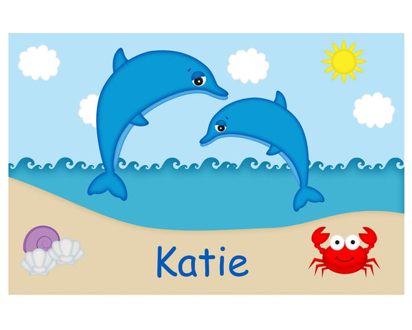Diving Dolphins Kids Placemat