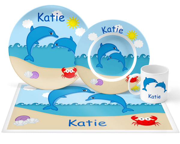 Diving Dolphins Kids Plate