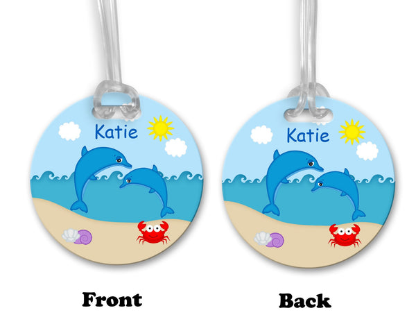 Diving Dolphins Bag Tag