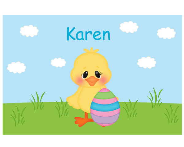 Easter Chick Kids Placemat