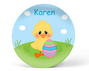 Easter Chick Kids Plate