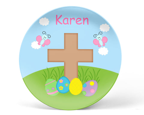 Easter Cross Kids Plate