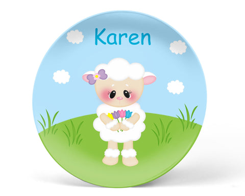 Easter Lamb Kids Plate