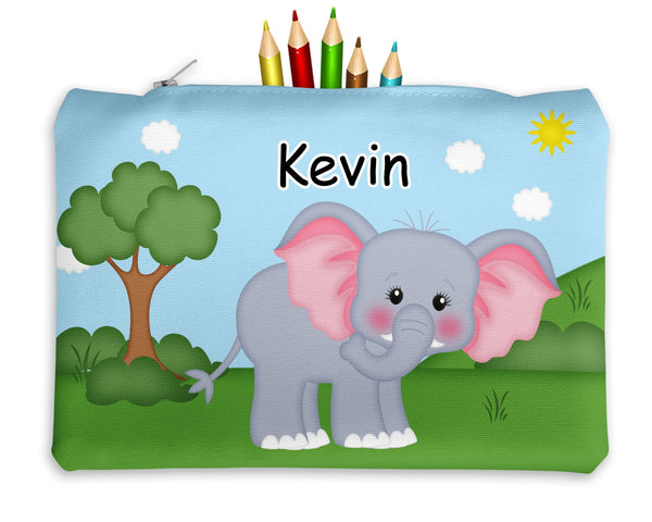 At the Zoo Elephant Kids Pencil Case