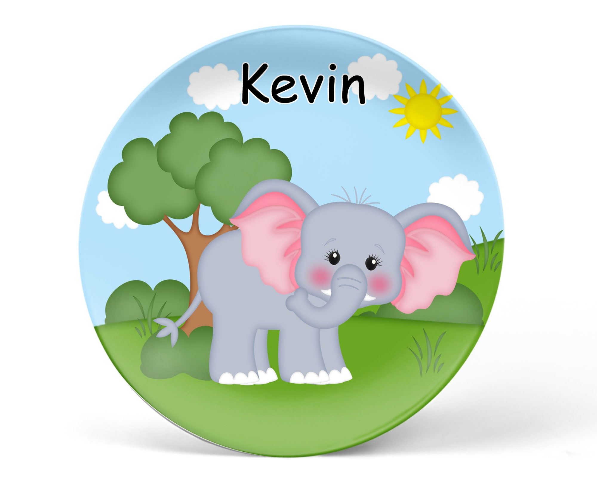 At the Zoo Elephant Kids Plate