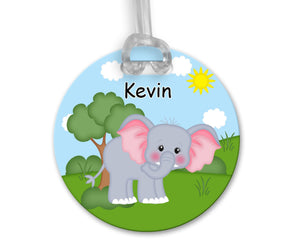 At the Zoo Elephant Bag Tag