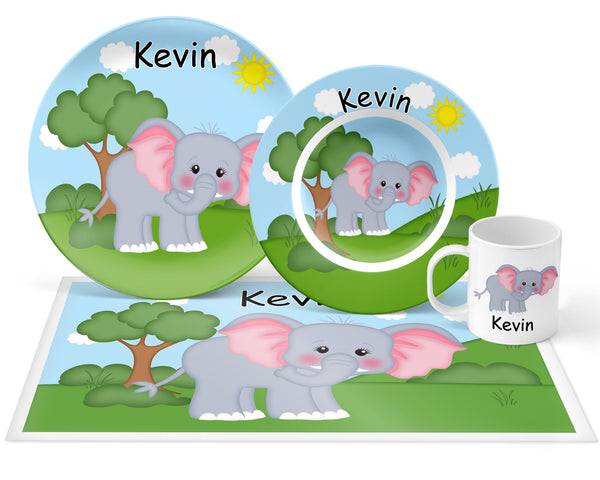 At the Zoo Elephant Kids Placemat