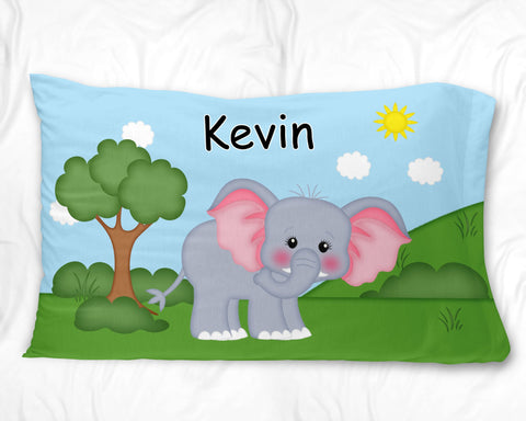 At the Zoo Elephant Pillow Case