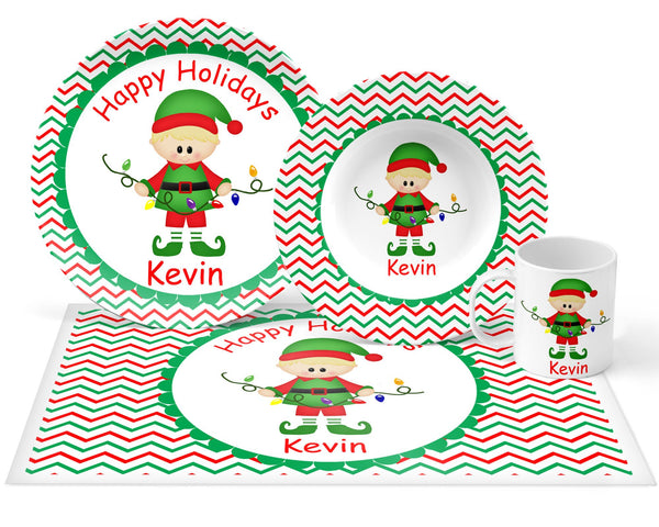Christmas Elf Boy Kids Placemat
